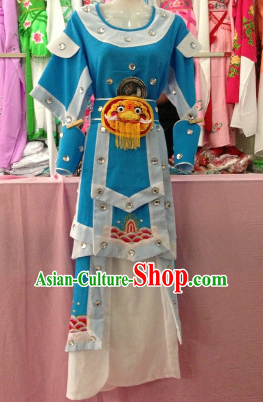 Long Sleeve Beijing Opera Female Warrior Costumes