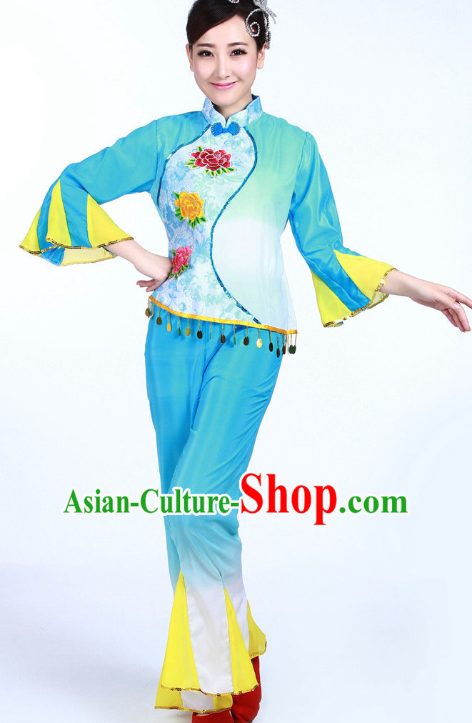 Asian Fashion Chinese Women Fan Dancewear