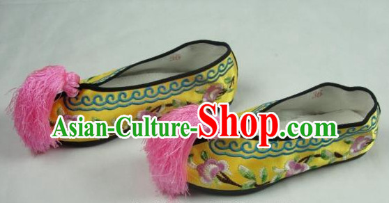 Chinese Beijing Opera Embroidered Shoes for Girls