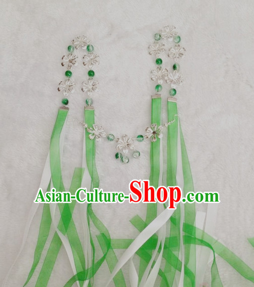 Chinese Style Handmade Earrings with Tassels