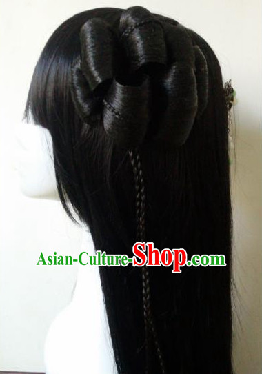 Traditional Chinese Black Wigs for Women Buy Wigs online