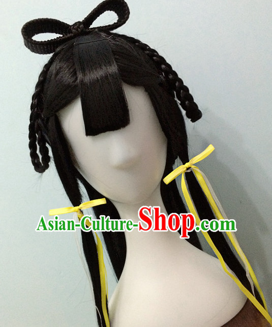 Buy Directly from China Traditional Chinese Costumes Black Wigs