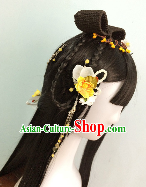 China online Shopping Traditional Chinese Fairy Costumes Black Wigs and Hair Pieces