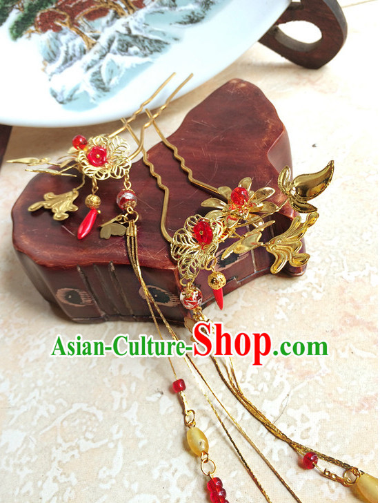 Traditional Chinese Handmade Bridal Hair Pieces Hair Accessories Hair Jewelry