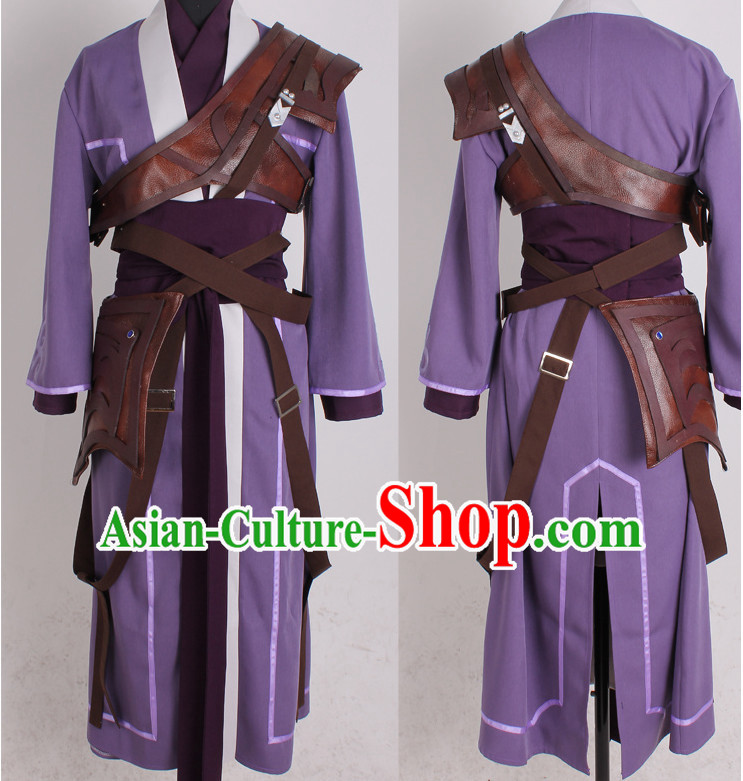 Asia Fashion Top Chinese Cosplay Wu Xia Chivalry Costumes Complete Set