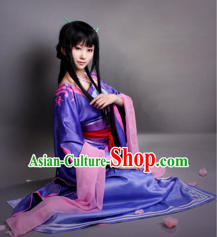 Asia Fashion Top Chinese Fairy Cosplay Halloween Costumes Complete Set