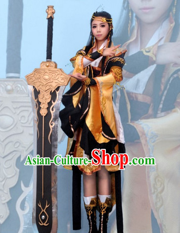 Top Chinese Female Superhero Halloween Costumes and Accessories Complete Set