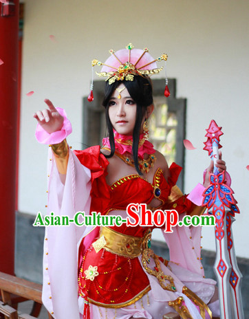 Top Chinese Xi Shi Beauty Halloween Costumes and Accessories Complete Set