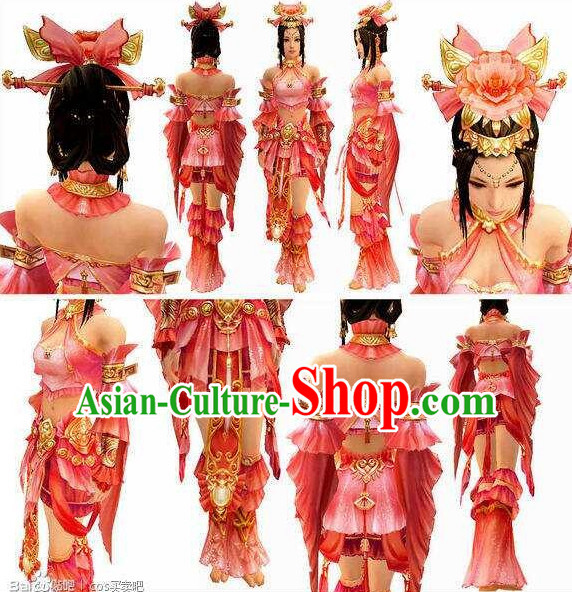 Chinese Handmade Cosplay Accessories and Wigs