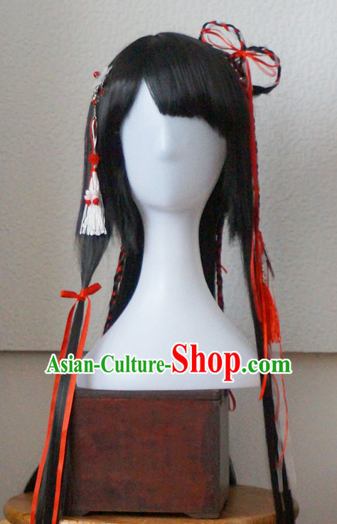 Chinese Ancient Style Noblewomen Wigs and Hair Accessories