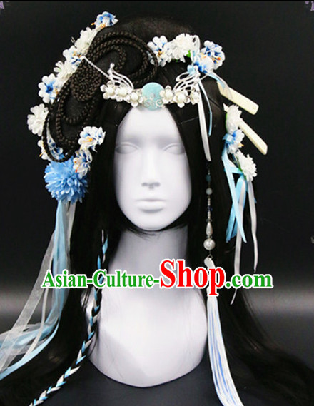 Chinese Traditional Handmade Empress Flower Hair Accessories Set