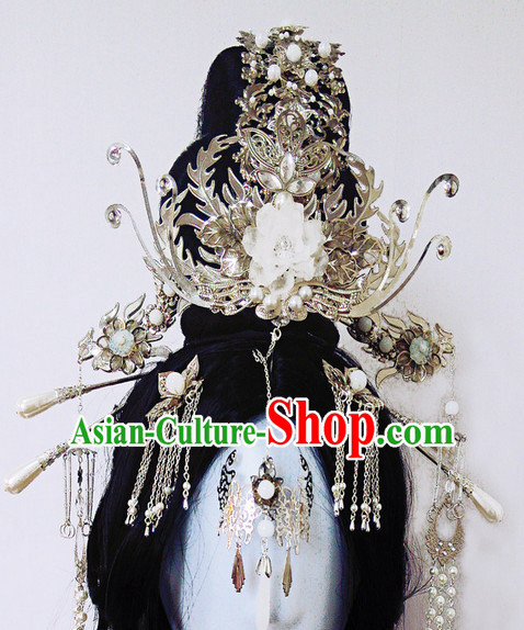 Chinese Ancient Royal Style Queen Empress Hair Accessories Headwear Complete Set