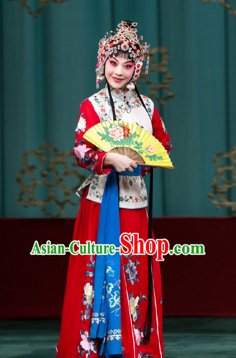 Chinese Traditional Tang Costumes and Headpieces Complete Set