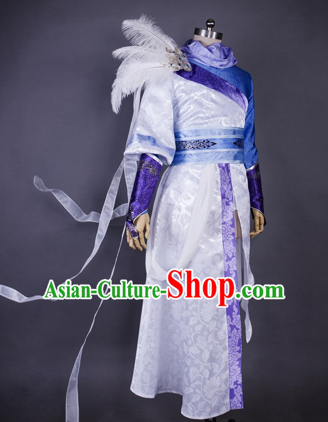 Asia Fashion Chinese Wu Xia Swordsman Play Cosplay Costumes Halloween Costume for Men