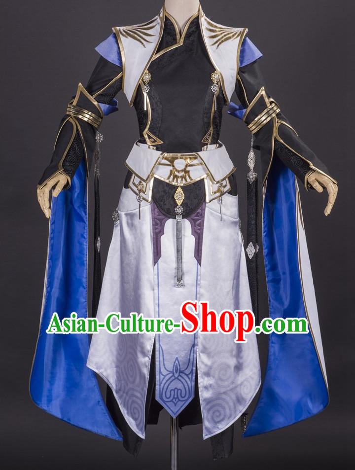 Asia Fashion Chinese Wu Xia Swordswoman Cosplay Costumes Halloween Costumes