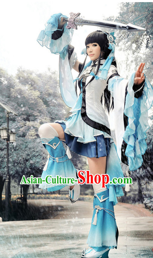 Asia Fashion Chinese Kung Fu Female Cosplay Costumes Halloween Costumes