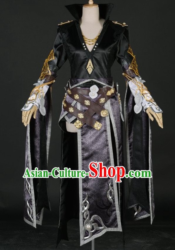 Asia Fashion Chinese Female Warrior Cosplay Costumes