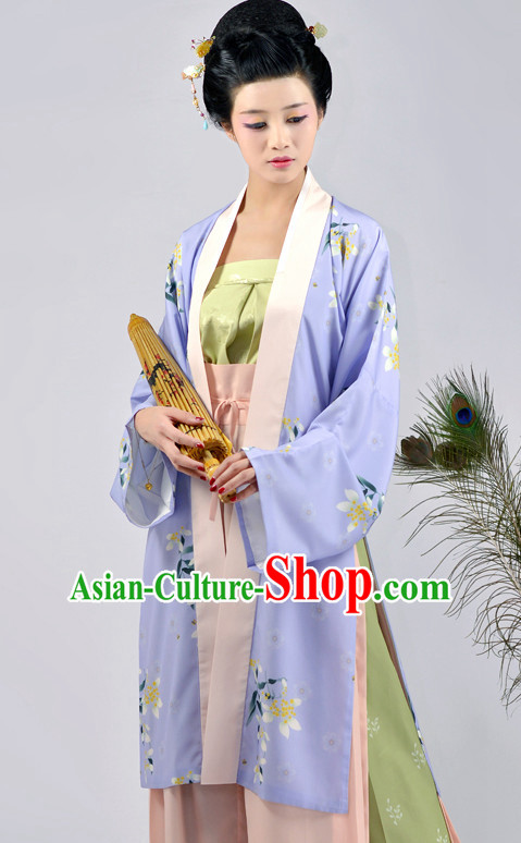 Chinese Ancient Clothes and Hair Jewelry Complete Set