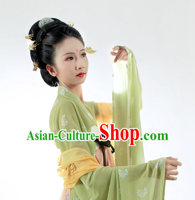 Chinese Ancient Tang Clothes and Hair Ornaments Complete Set for Men
