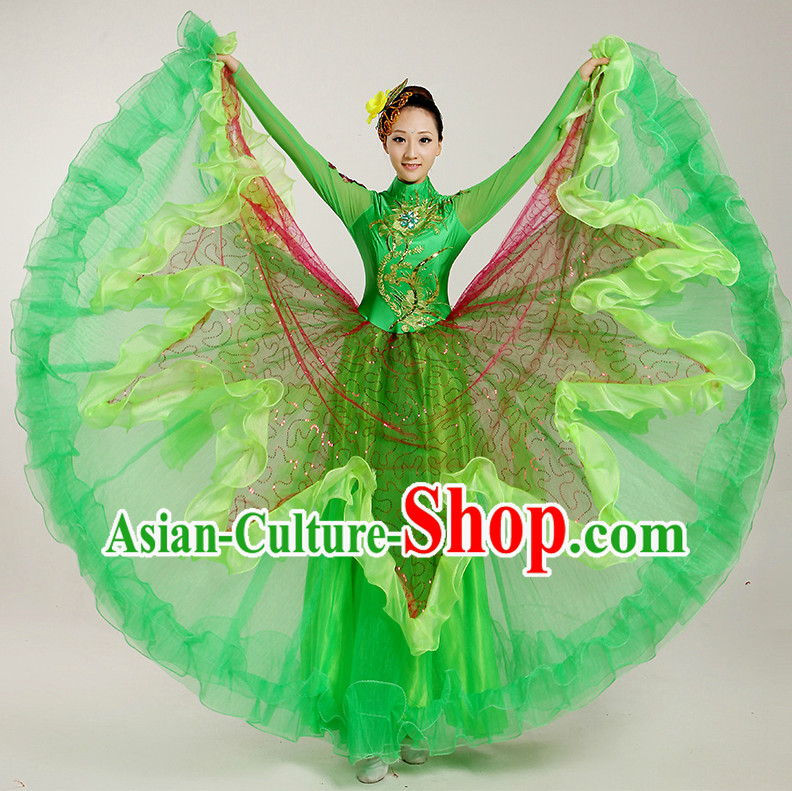 Chinese Folk Dance Costume Complete Set for Women