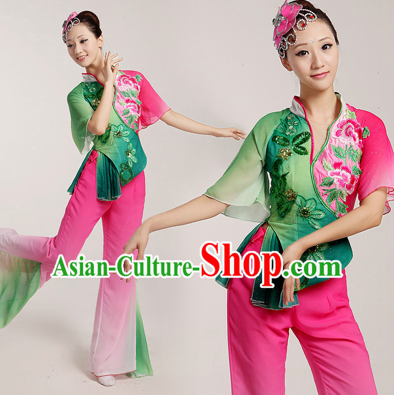 Chinese Folk Dancing Costumes Complete Set for Women