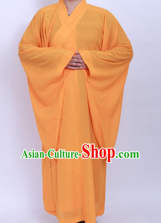 Chinese Yellow Taoist Long Robe