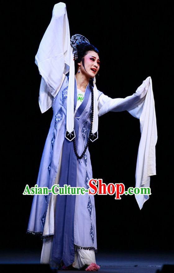 Asian Chinese Traditional Dress Theatrical Costumes Ancient Chinese Clothing Nun Costumes and Hat