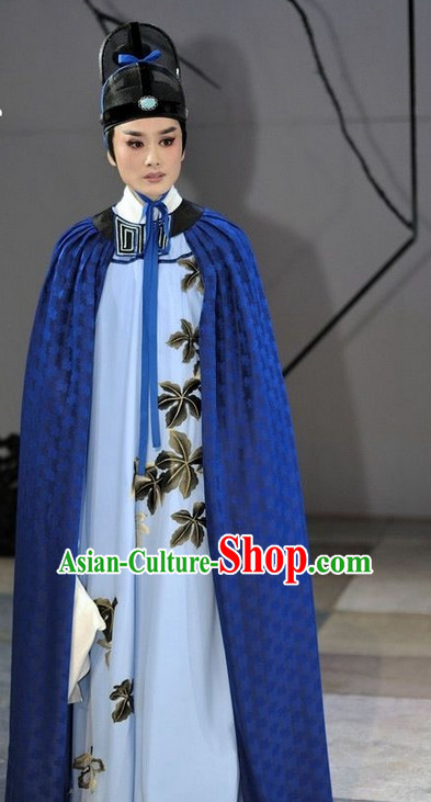 Asian Chinese Traditional Dress Theatrical Costumes Ancient Chinese Clothing Noblemen Costumes and Hat