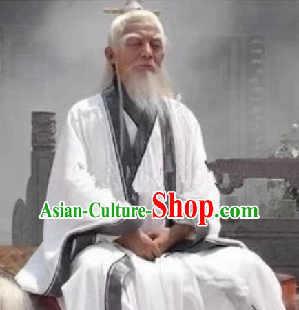 China Wudang Mountain Taoist Master Costumes Complete Set for Men