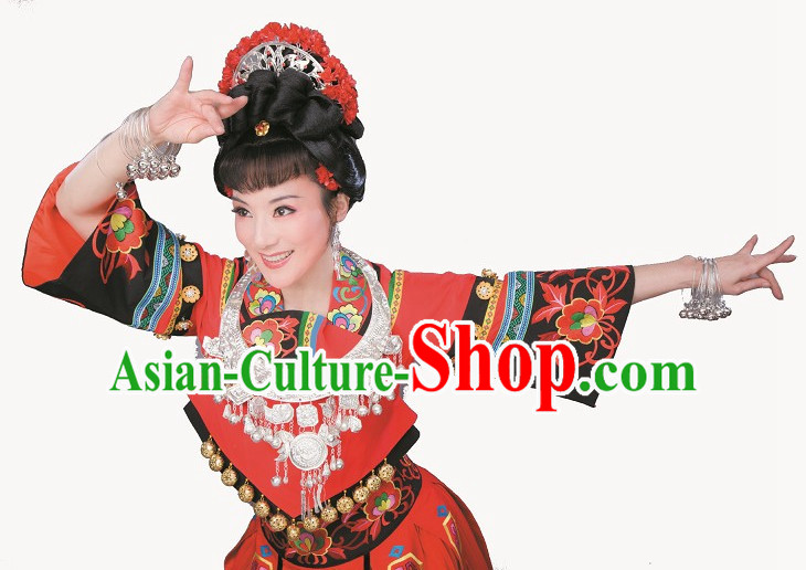 Asian Chinese Traditional Dress Theatrical Costumes Ancient Chinese Clothing Ethnic Costumes