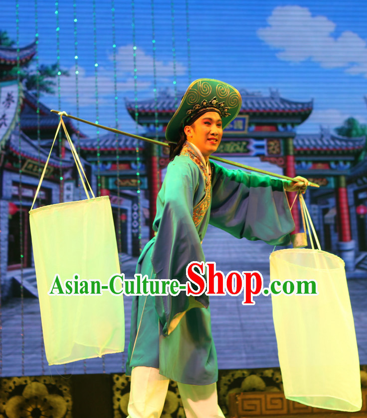 Asian Chinese Traditional Dress Theatrical Costumes Ancient Chinese Clothing Fisherman Costumes and Hat