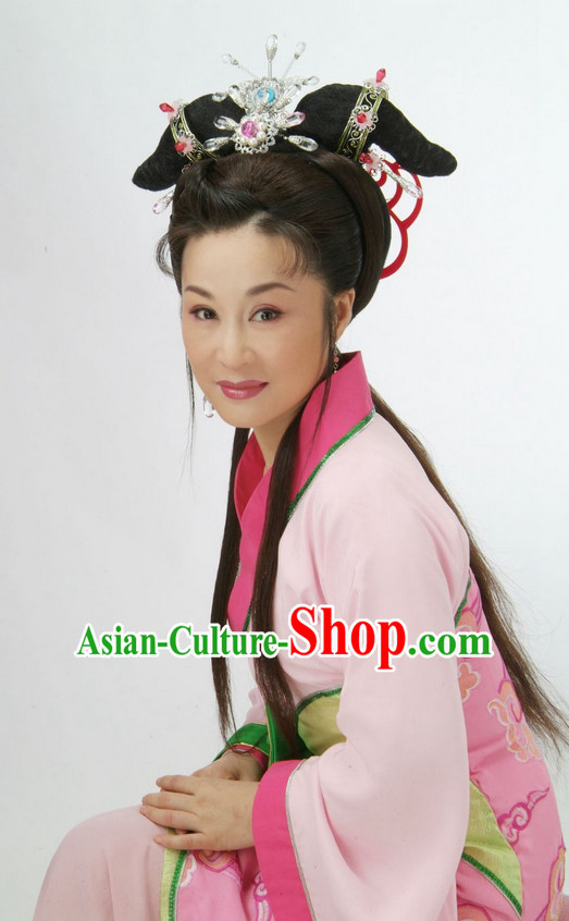 Traditional Chinese Peking Opera Theatrical Costumes Hair Accessories