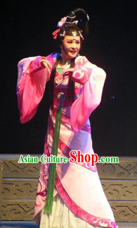 Chinese Traditional Dresses Theatrical Costumes Ancient Chinese Hanfu Princess Costumes and Hair Accessories