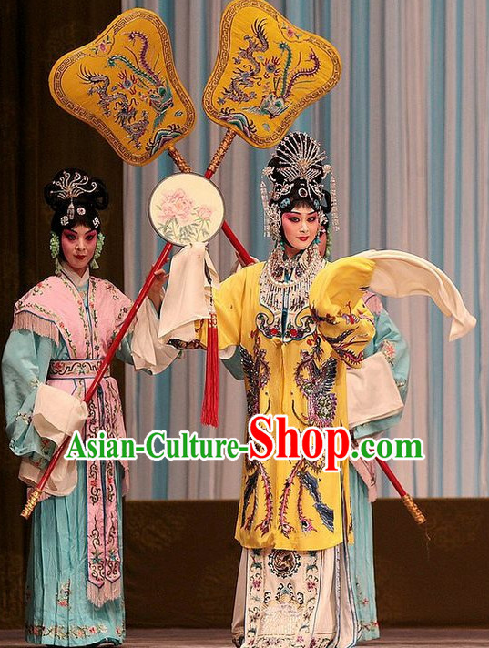 Ancient Chinese Beijing Opera Princess Costumes and Hair Accessories Complete Set for Women