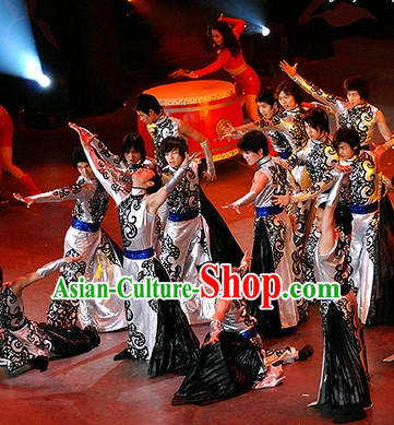 China Traditional National Drum Player Dancewear Suit for Men