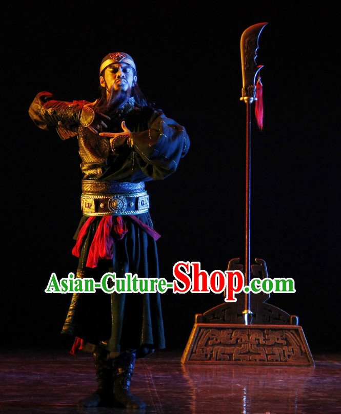 Asia Fashion Chinese Three Kingdoms Classical Dance Costume Guan Gong Gwan Gong for Men