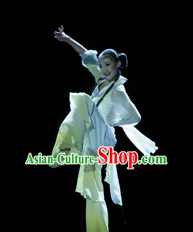 Asia Fashion Beautiful Chinese Umbrella Dance Costumes for Women