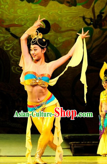 Chinese Fairs Fly in Sky Flying Fairs of Dunhuang Mural Dance Costumes and Hair Accessories
