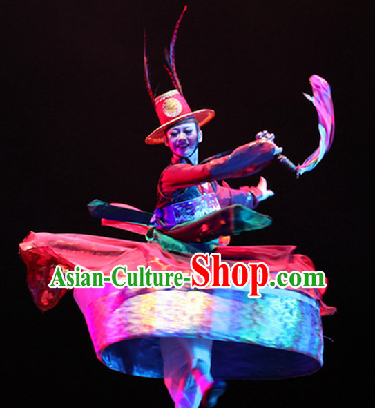 Traditional Chinese Korean Nationality Dance Costumes Complete Set for Women