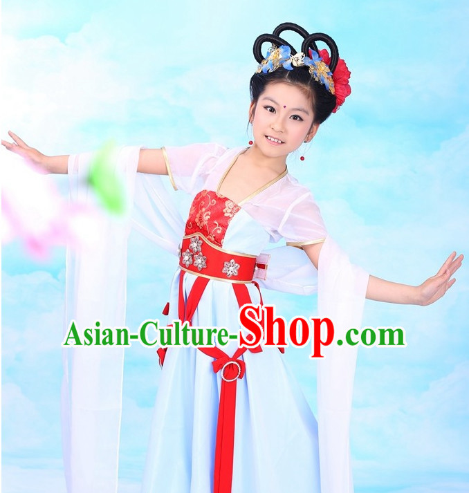 Traditional Chinese Fairy Classical Costumes Complete Set for Kids