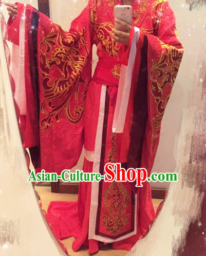 Chinese Traditional Wedding Dress Complete Set for Brides