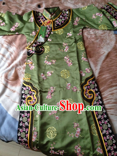 Chinese Traditional Imperial Princess Clothes Long Robe Attire