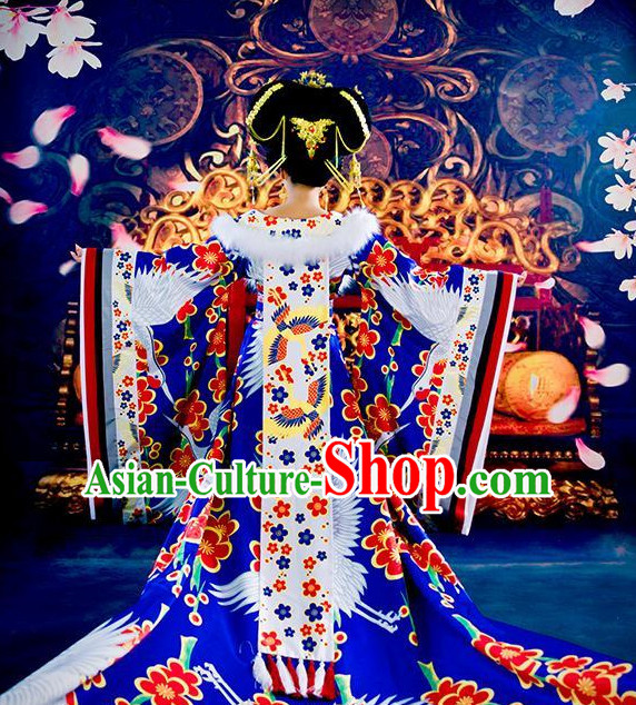 Chinese Classical Empress Crane Costumes for Women