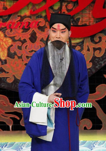 Chinese Peking Opera Costumes Old Men Costume