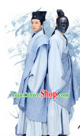 Chinese Hanfu Asian Fashion Japanese Fashion Plus Size Dresses Vntage Dresses Traditional Clothing Asian Costumes Hua Qian Hanfu Shu Shan Schcool Costume for Men