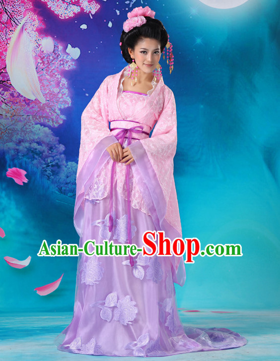 Chinese Hanfu Asian Fashion Japanese Fashion Plus Size Dresses Vntage Dresses Traditional Clothing Asian Costumes with Long Trail