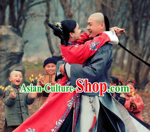 Chinese Hanfu Asian Fashion Japanese Fashion Plus Size Dresses Vntage Dresses Traditional Clothing Asian Costumes Long Mandarin Robe for Girls