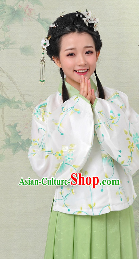 Chinese Hanfu China Shopping Asian Fashion Plus Size Clothing Clothes online Oriental Dresses Ancient Costumes and Hair Accessories Complete Set