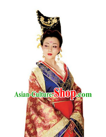 Handmade Chinese Palace Empress Wigs and Hair Accessories