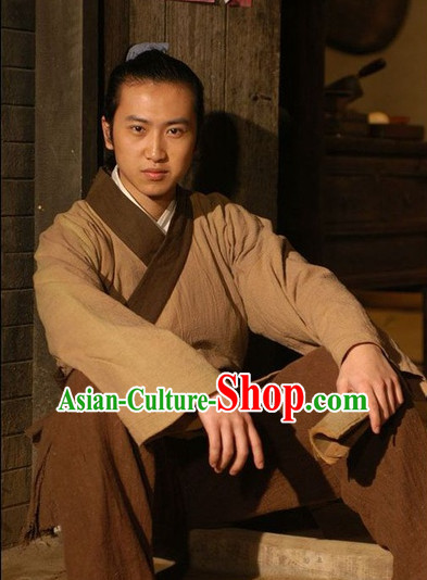 Traditional Chinese Ancient Hanfu Costumes Complete Set for Men